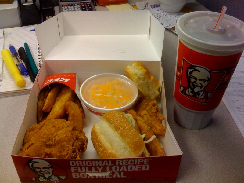 Kfc Meal Box Rocks You Like a Hurricane